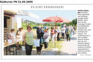 Erbeerstand Familie Hutt Friedrichshafen